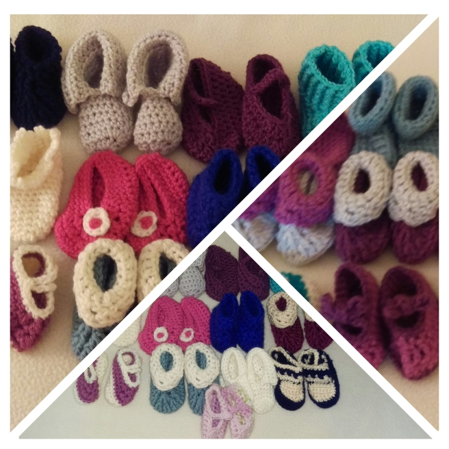 Baby Booties Photo Grid by Debbwin